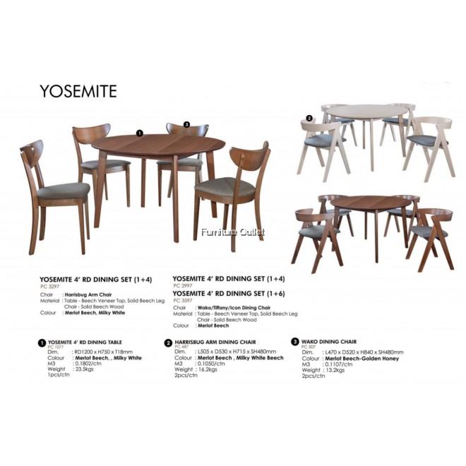 YOSEMITE DINING SET WITH WAKO CHAIR - (1+4) / (1+6)