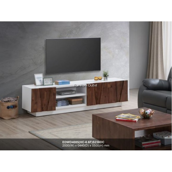 EDWD4085 6.6 FEET HALL CABINET - SOLID RUBBER WOOD
