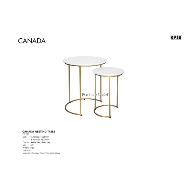 CANADA NESTING TABLE