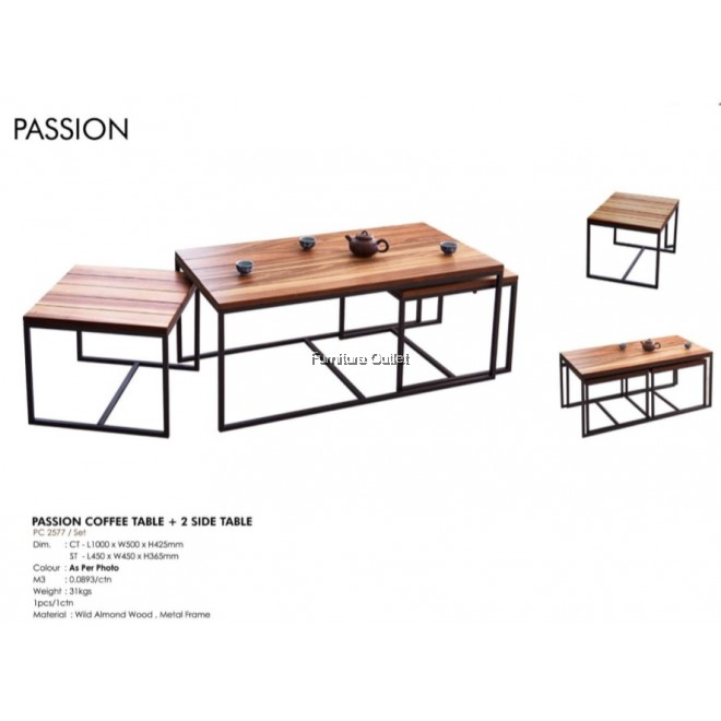 PASSION COFFEE TABLE + 2 SIDE TABLE