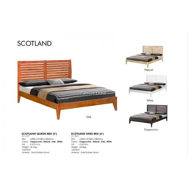 SCOTLAND QUEEN BED (5') / KING BED (6')