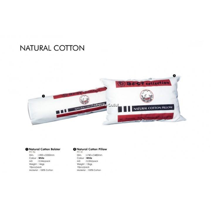 NATURAL COTTON PILLOW / BOLSTER