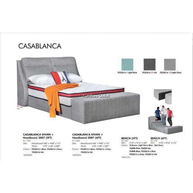 CASABLANCA DIVAN + HEADBOARD 3007 (5FT) / (6FT)
