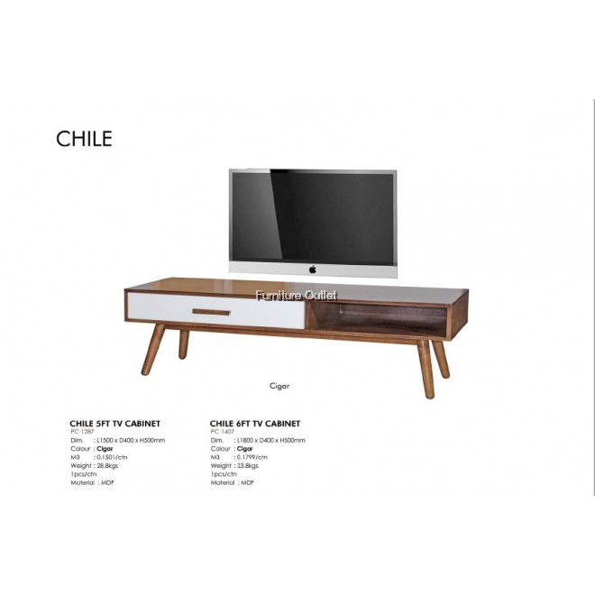CHILE TV CABINET (5FT / 6FT)