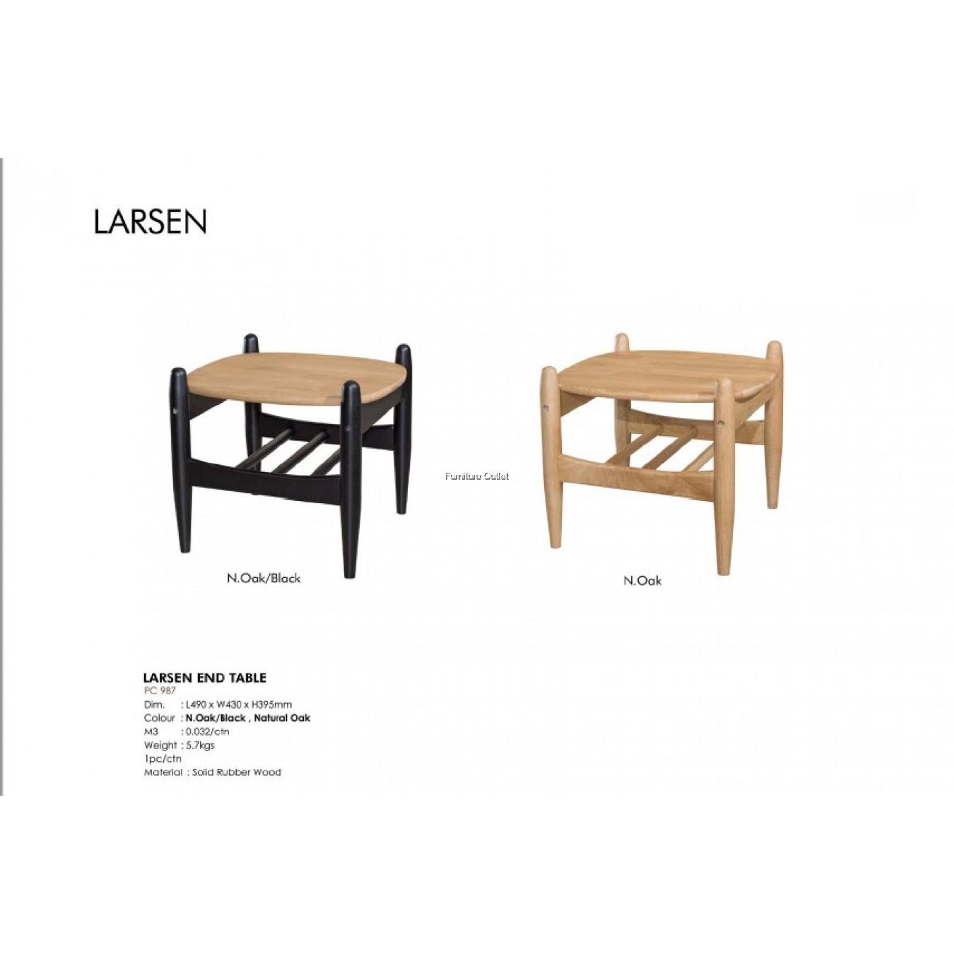 LARSEN END TABLE - NATURAL OAK & NATURAL OAK / BLACK