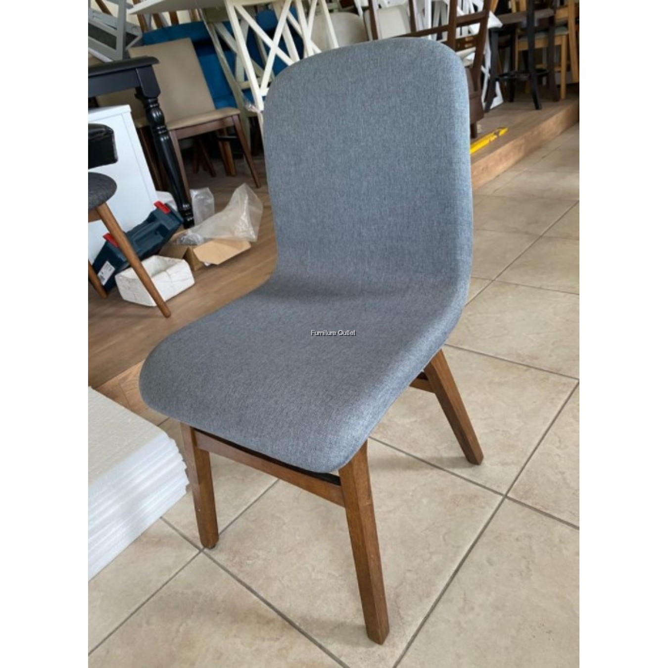 CARMEN DINING CHAIR - GREY