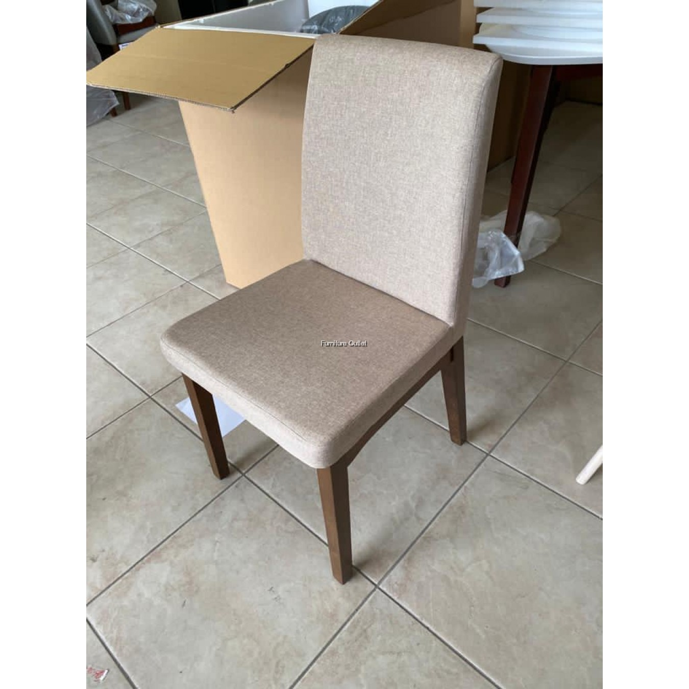 KRISTY DINING CHAIR - BROWN