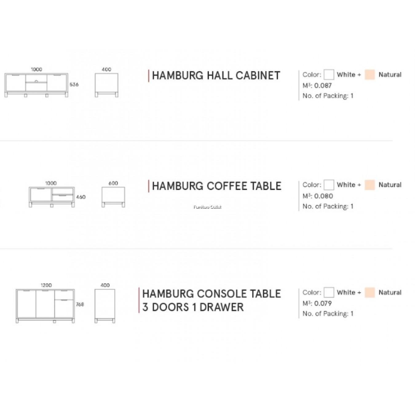 HAMBURG LIVINGROOM SET SERIES - CABINETS