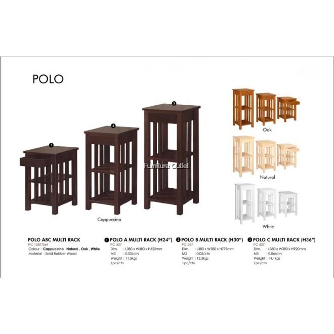 POLO ABC MULTI RACK - CAPPUCCINO / OAK / NATURAL / WHITE