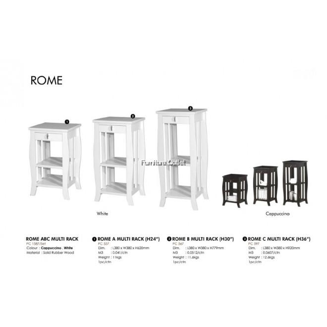 ROME ABC MULTI RACK - WHITE / CAPPUCCINO