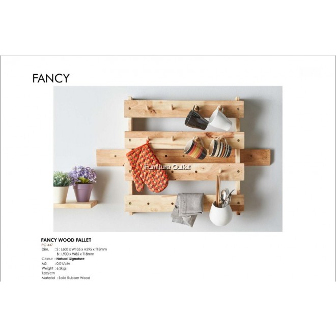 FANCY WOOD PALLET - NATURAL SIGNATURE