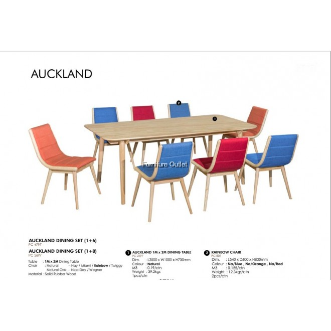 AUCKLAND DINING SET - (1+6) / (1+8)