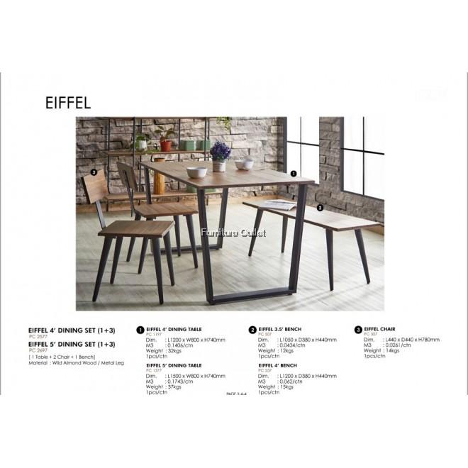 EIFFEL 5' DINING SET (1+3)
