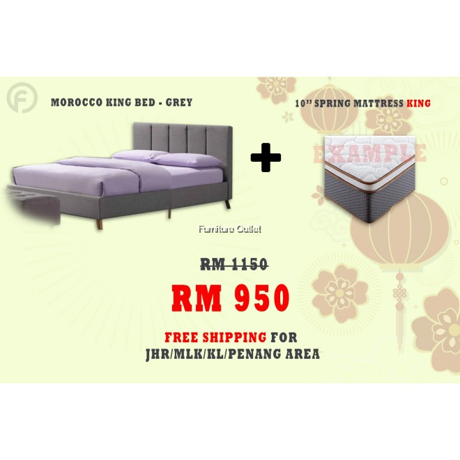 ( FREE SHIPPING - CNY PROMOTION) - MOROCCO BED + SPRING MATTRESS 10""