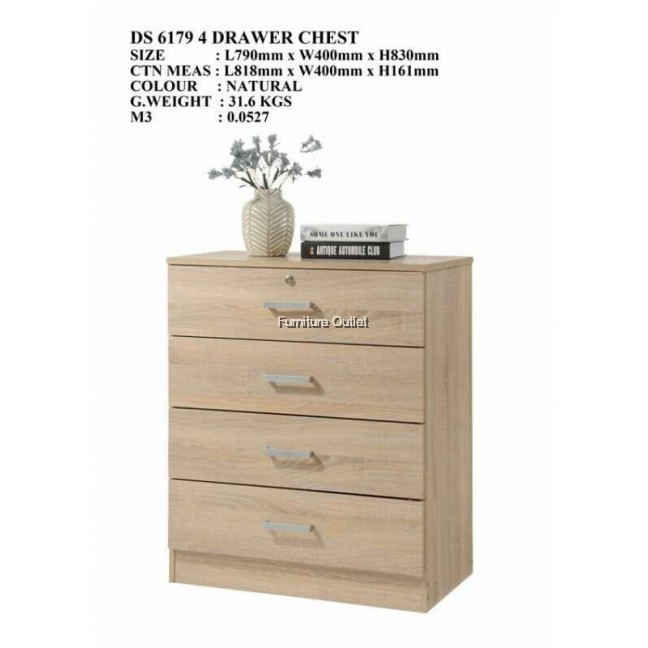 S6179 4 DRAWER CHEST