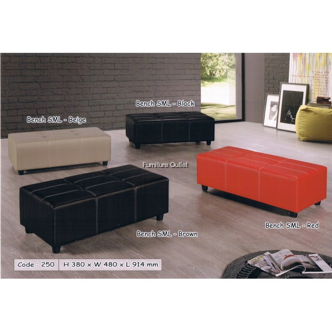Bench SML (Beige, Black, Brown, and Red)
