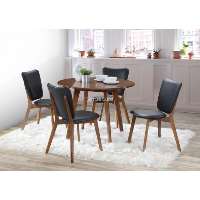 Molla round dining set 1+4