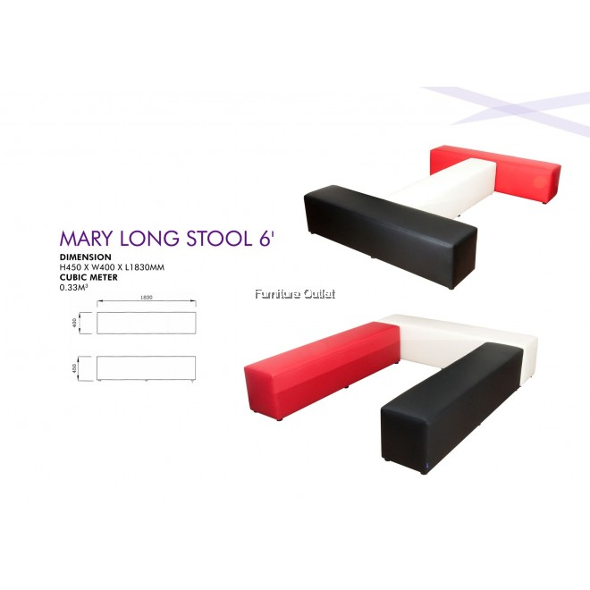 Mary Long Stool 6'