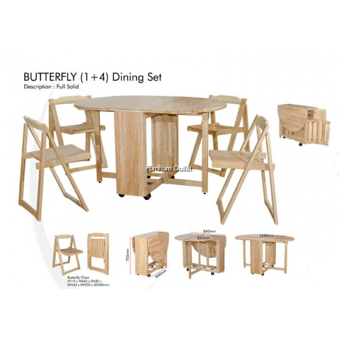 BUTTERFLY DINING SET (1+4)