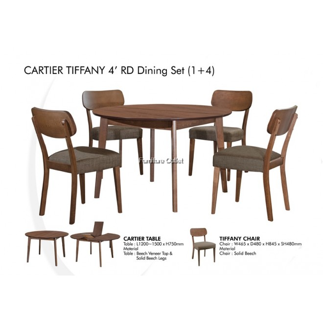CARTIER 4'RD DINING TABLE