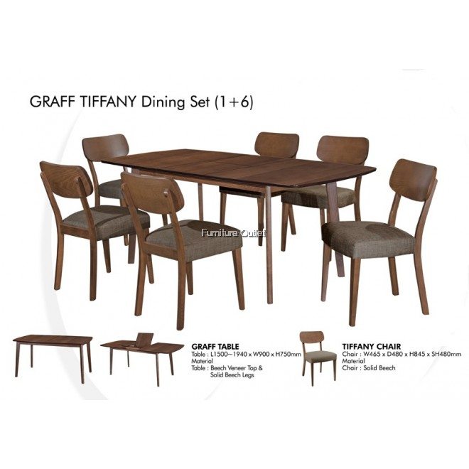 GRAFF PANDORA/TIFFANY DINING SET 1+6