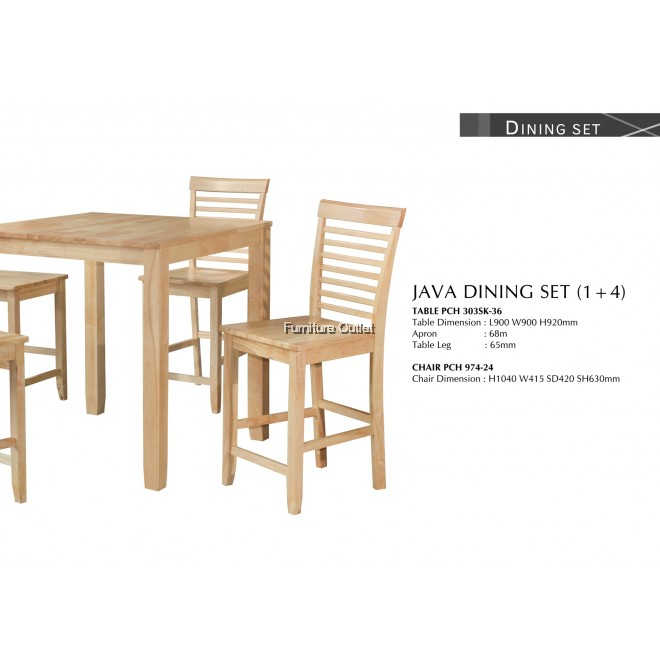 JAVA DINING SET (1+4)