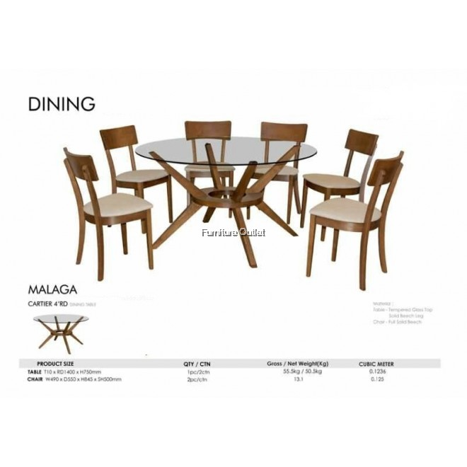 MALAGA 1400RD DINING TABLE