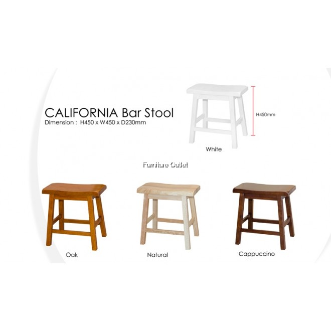 CALIFORNIA STOOL (H18) - 2 PCS