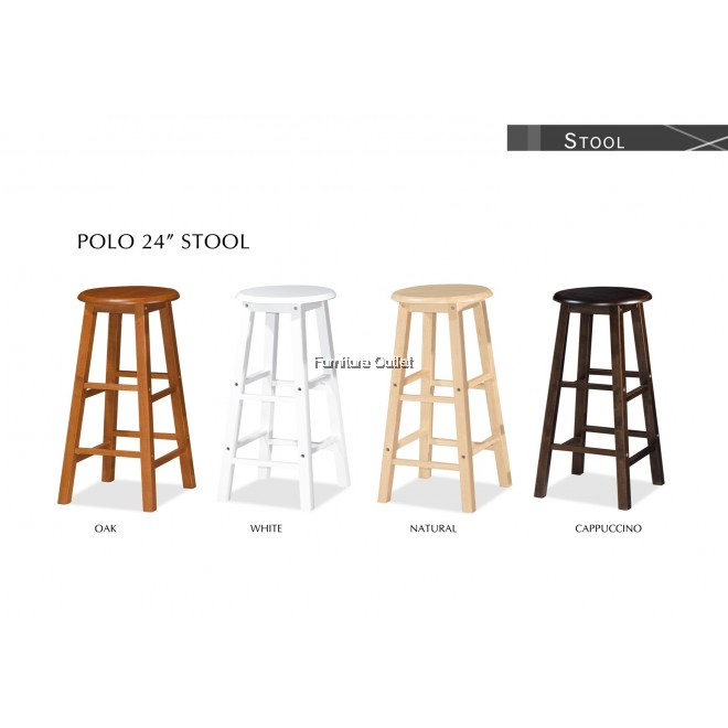 POLO BAR STOOL (H24) - 2 PCS