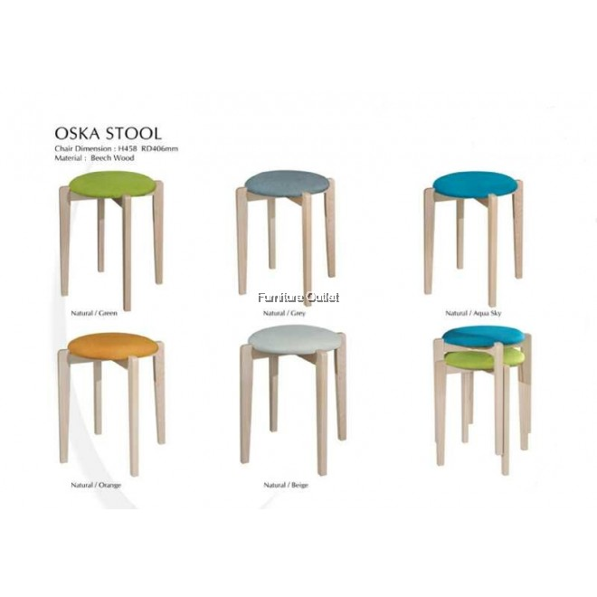 OSKA STOOL (CUSHION SEAT)
